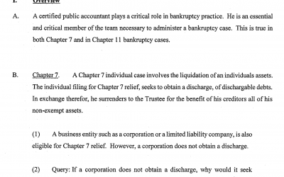 The Role of Certified Public Accountants In Bankruptcy Cases